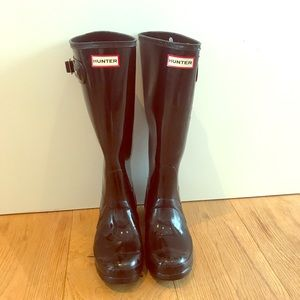 Hunter Rainboots + 2 Pairs Hunter Sock Inserts